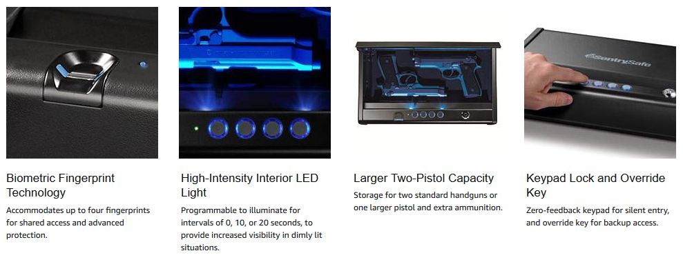 SentrySafe Biometric Gun Safes